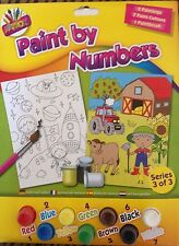 Boys Paint By Numbers 2 Pack Farm & Space Painting & Acrylic Paints