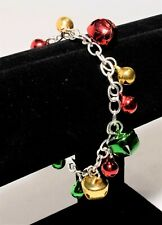 BELLS LARGE JINGLE MORRIS DANCER CHARMS CRAFTS CHRISTMAS WREATH 30MM