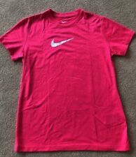 Nike Girls Pink Short Sleeve Top Athletic Cut Size S