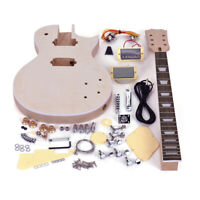 Unfinished Build Your Own DIY Electric Guitar Kit ST LP Style 4 / 6 String 1 Set
