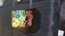 decor statement bracelet metal copper? roses and flowers stones $129.00