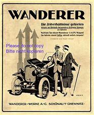 Escursionisti la pubblicità di 1920 auto Schönau COPPIA parsimonia automobile Oldtimer