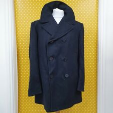 Vtg 2010 US Navy Wool Enlisted Bridge Fleece reefer mariner Pea Coat Jacket 44R