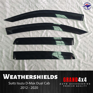 Premium Weathershields Window Visors for Isuzu D-Max Dmax 2012-2020 Dual Cab