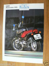 HAP-276 BMW POSTER R1100RS BROCHURE 1995 ALL MODELS GERMAN 16 PAGES R1100RS