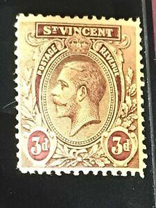 St Vincent stamp GV 3d purple MH