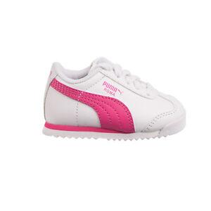 Puma Roma Basic Toddler's Shoes White-Fuchsia Purple 354260-22