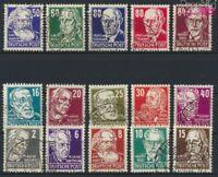 DDR 327-341 (kompl.Ausg.) gestempelt 1952 Persönlichkeiten (9233257