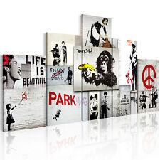 BANKSY GRAFFITI STREET ART Wandbilder xxl Bilder Vlies Leinwand f-C-0138-b-m