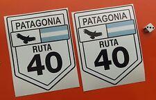 """X2 ruta 40 Patagonia Calcomanías Adhesivas grande 6"""" X 4.5"""" Aprox 7-10 Año de vinilo"""