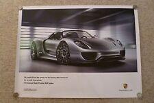 2010 Porsche 918 Spyder Hybrid Concept Poster Englsih BEYOND RARE Out of Print!!