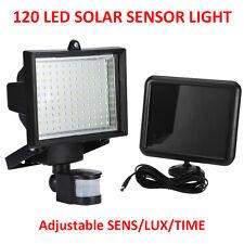 LED Solar Powered Motion Sensor Security Light Garden Wall Outdoor 3-in-1 Mode 120led 2 Lights