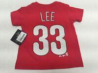 Philadelphia Phillies Official MLB Majestic Infant Toddler Cliff Lee T-Shirt