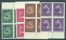 Slovakia 1942 Philatelic Exhibition sg.82-5 set of 4 in MNH blocks of 4