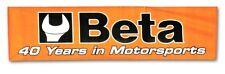 BETA TOOLS 9559 un volontario MURO APPENDERE PLASTICA Motorsport Banner POSTER