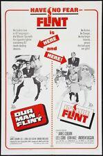 IN LIKE FLINT / OUR MAN FLINT 1 sheet movie poster 27x41 JAMES COBURN BOB PEAK