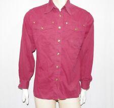 Trussardi camicia maniche lunghe uomo TG L vintage bordeaux usata e originale