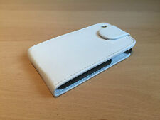 WHITE LEATHER FLIP CASE COVER POUCH FOR APPLE IPHONE 3G 3GS * UK SELLER *