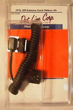 i-TTL Off-Camera-FLASH sync Cord for Nikon-3ft-Never Used -open box-Dot Line Cor