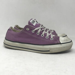 Converse Mens Chuck Taylor All Star Purple Sneaker Shoes Lace Up Low Top Sz 7.5