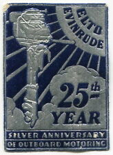 "Vintage Promo Embossed Sticker: ""ELTO EVINRUDE 25th Year - Outboard Motoring"""