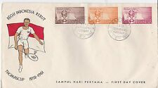 First day cover, Indonesia, Thomas Cup, Scott #457-459, 1958