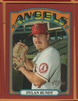 2021 Topps Heritage - Red Border SP - #370 Dylan Bundy - Los Angeles Angels