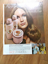 1969 Avon Cosmetics Ad Announces Protem the Protein System for Beautiful Hair