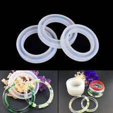 Silicone Mold Casting Mould For Resin Bangle Bracelet Jewelry Making DIY ToolsPB