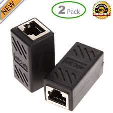 2x RJ45 Kupplung In-Line Cat7/Cat6/CAT5e Ethernet Kabel Extender Adapter