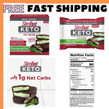 14 Candy Bar SlimFast Keto Fat Healthy Diet Snacks Chocolate Mint Stuffing