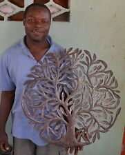 "Tree of Life, Growth from the Ground Haitian Metal Art 23"" X 23"""