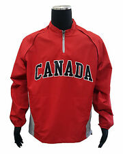 Majestic Canada 2013 WBC Triple Peak Cool Base Gamer Jacket (Large, Red)