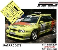 DECAL/CALCA 1/43; Seat Ibiza KitCar; Ventura-Julià; Rally Osona 1996