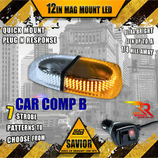 240 Led Light Bar Roof Top Emergency Strobe Dual Rapid Switch White / Amber (A)(Fits: Neon)
