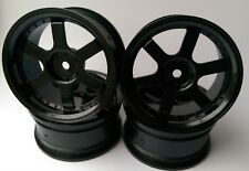 Rc Car 1/10 Drift 5 Spoke 37R Rims Wheels 3mm Offset fits Tamiya HPI HSP BLACK