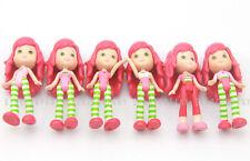 6pcs Strawberry Shortcake 2008 Dolls 3in. Figures Girls Birthday Gift Toys