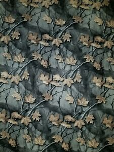 LINED VALANCE 42X15 BRANCH LEAF FALL TREE AUTUMN CAMOUFLAGE HUNT HALLOWEEN