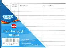 3 x Fahrtenbuch 40 Blatt Fahrtenbücher DIN A6 Fahrstrecke Kilometer Steuern