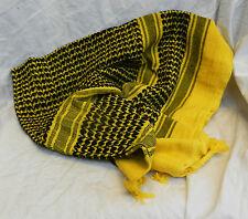 GIALLO e nero Cotone Sciarpa Stile Arabo-Large-Nuovo con Scatola
