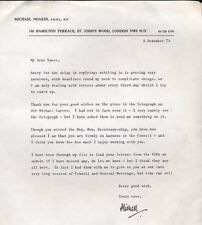Michael Noakes - artist - painted Queen, Clinton, Pope - 1974 signed letter