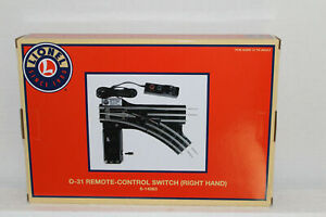 """Lionel  #14063 """"031"""" Tubular Right Hand Remote Switch"""