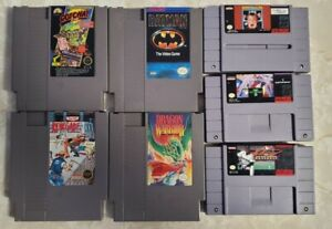 Original Nintendo NES Games Lot w/ 7 Classic Favorites