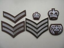 British Army FAD / Jumper rank badges [pairs]. L/cpl-WOII. New, unissued.