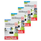SanDisk 16GB 32GB 64GB 128GB OTG DUAL USB 3.0 Flash Pen Drive lot Memory Stick E