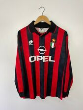 AC MILAN 1996-97 (LARGE) LONG SLEEVE FOOTBALL HOME SHIRT LOTTO SERIE A VINTAGE