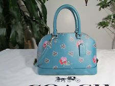NWT Coach Wildflower Mini Sierra Satchel Handbag Crossbody F13752 Dark Teal