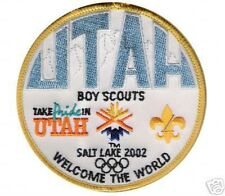 OLYMPIC GAME COLLECTIONS: 2002 WINTER OLYMPIC UTAH BOY SCOUTS COMMEMORATE PATCH