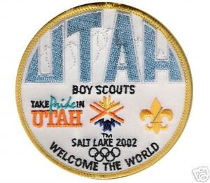 2002 WINTER OLYMPIC UTAH BOY SCOUTS COMMEMORATE PATCH