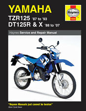 Haynes Manual 1655 - Yamaha TZR125 (87 - 93) and DT125R, DT125X (88 - 07)